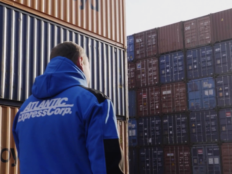 courier by cargo containers