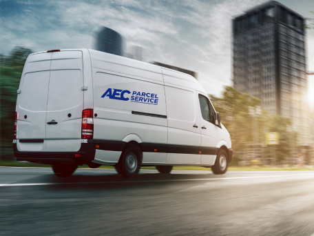 AEC Parcel service van