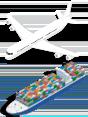 ship and plane icon