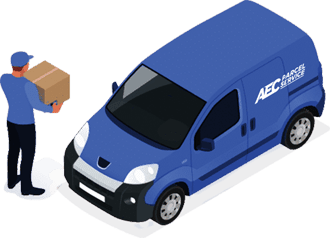 courier and truck icon