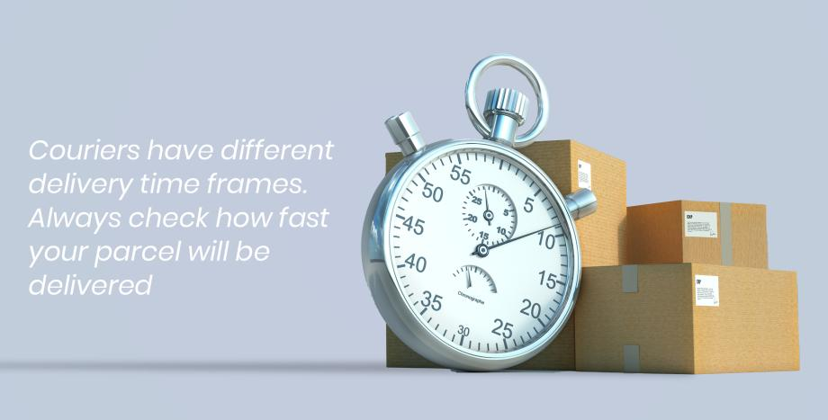 Parcel delivery timeframes