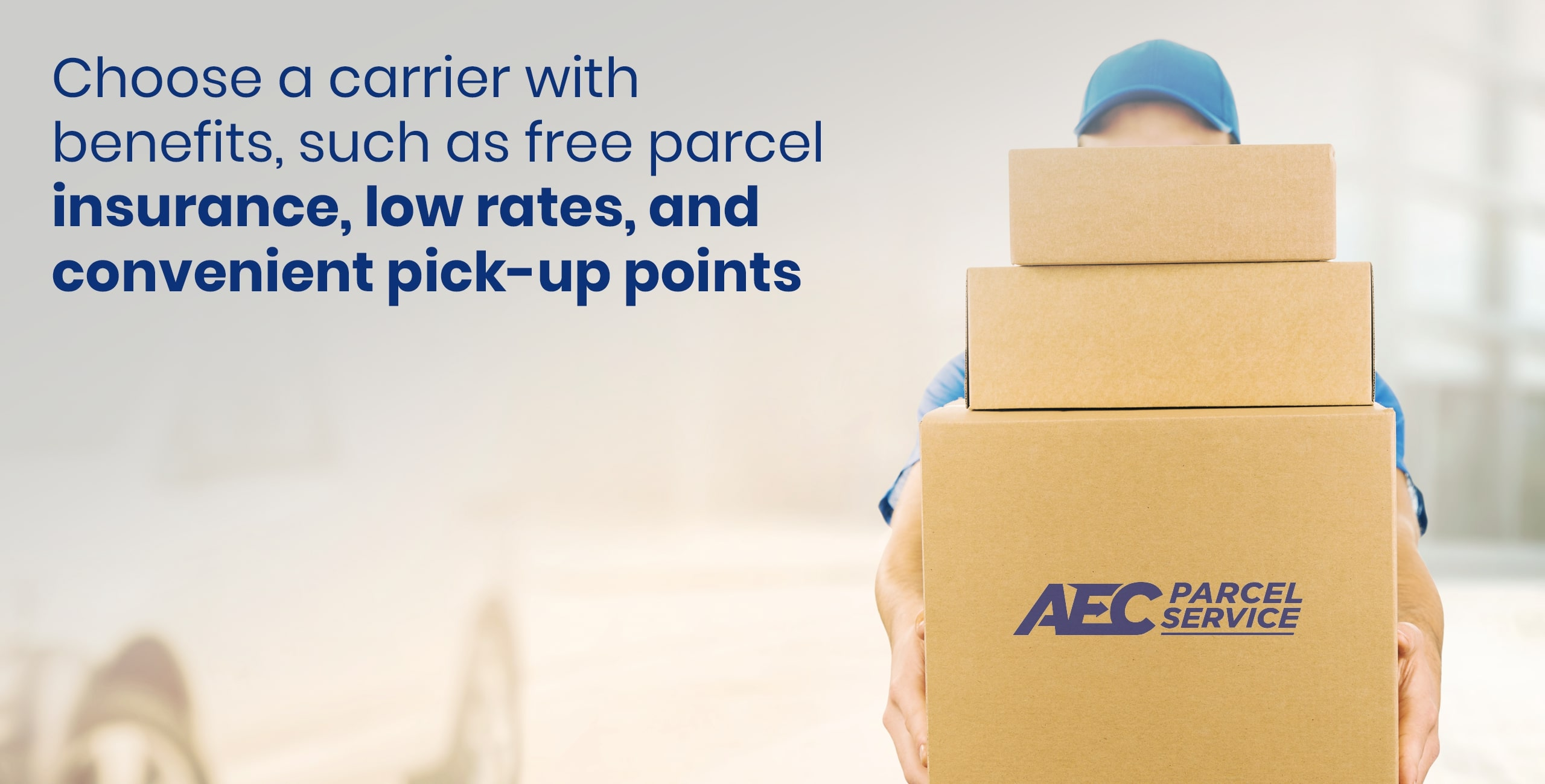 Package shipping company with benefits