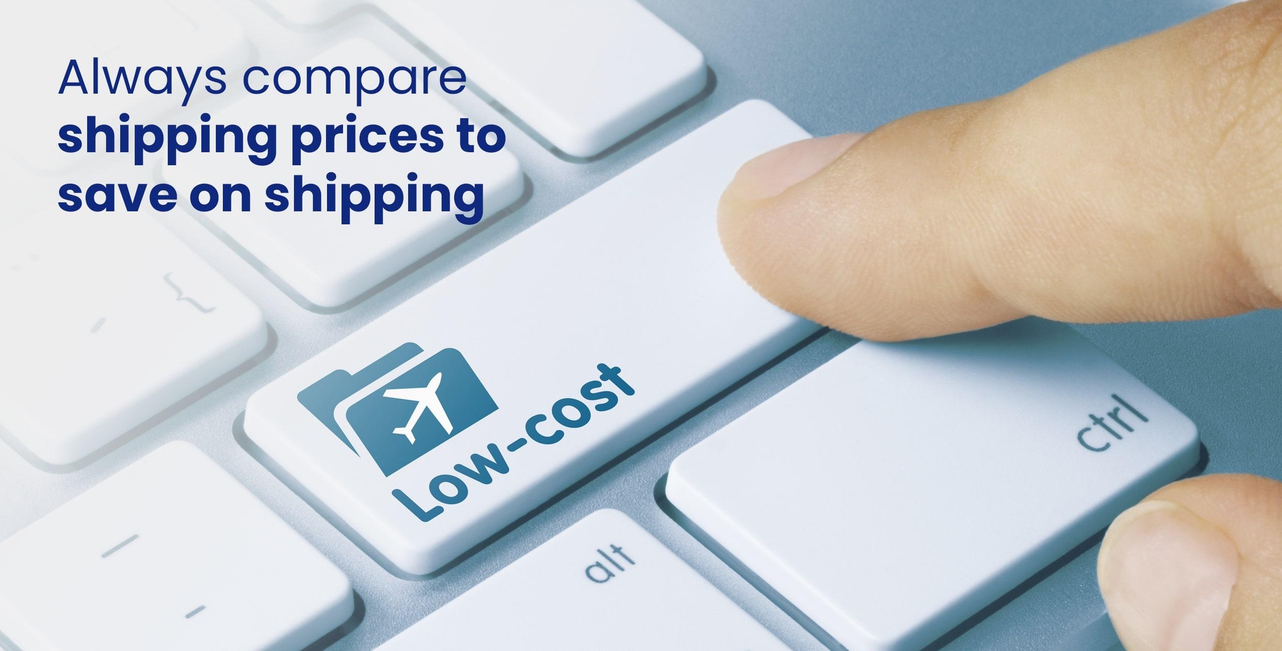 low cost shipments on keyboard