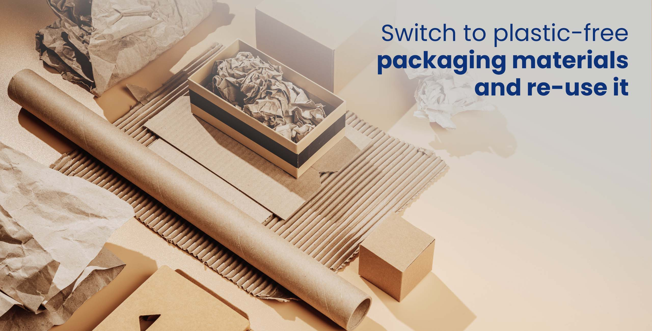 sustainable packaging for package shipping