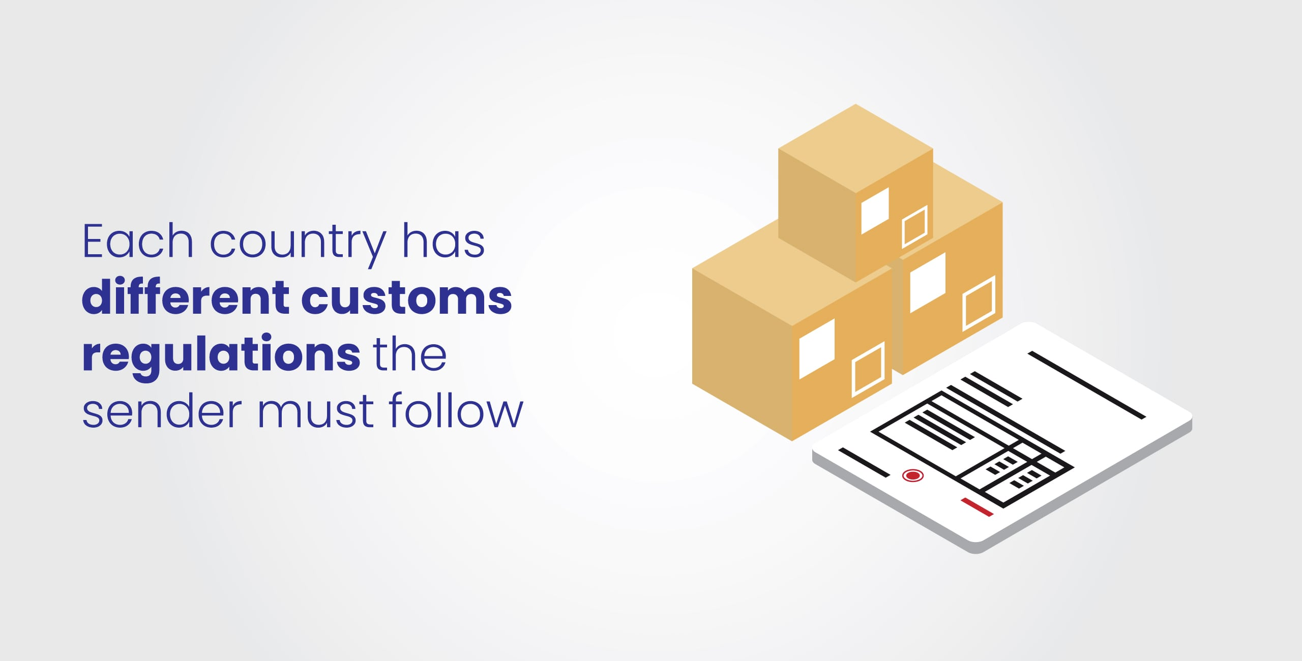 customs form and packages